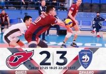 Волейболисты «Факела» из Нового Уренгоя проиграли «Динамо» в «Финале шести»