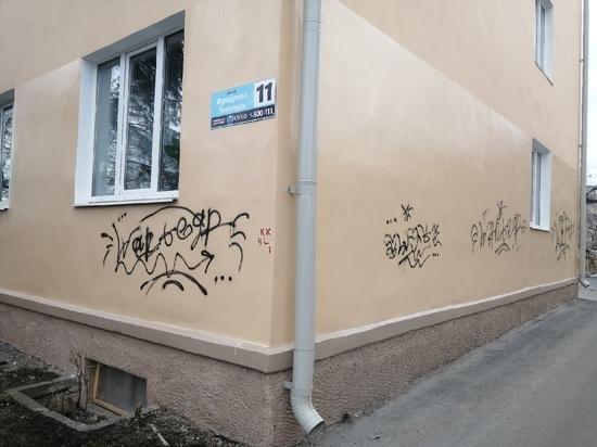 Уличные художества: в Петрозаводске разрисовали фасад дома, покрашенного в 2020