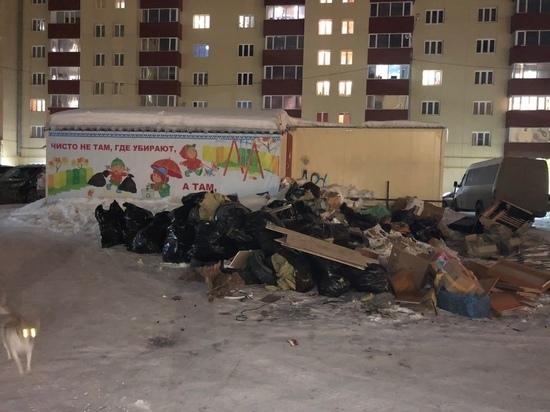 Гора мусора под плакатом «Чисто не там, где убирают» насмешила жителей Нового Уренгоя