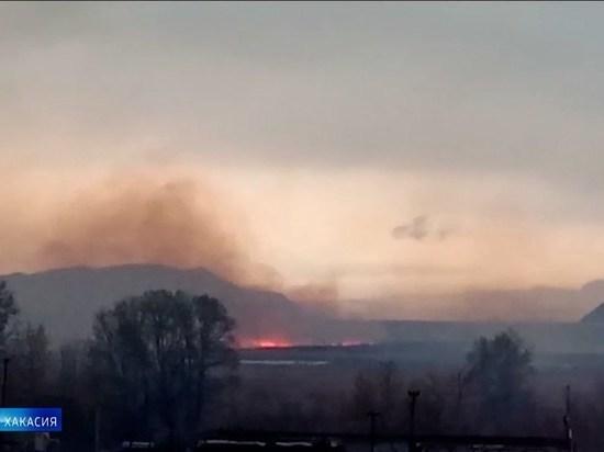В Абакане проверили качество воздуха, задымленного из-за природного пожара
