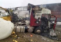 В ГИБДД установили личность водителя, сгоревшего в большегрузе Scania натрассе М-5 сегодня утром