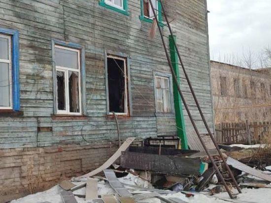 В Башкирии при пожаре пострадала мать с двумя детьми