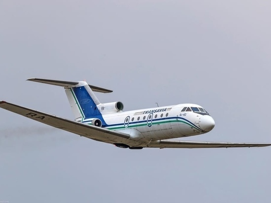 На калужском аэродроме Орешково восстановили раритетный Як-40
