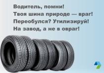 Регоператор: автомобильные шины нельзя оставлять на площадках для коммунальных отходов