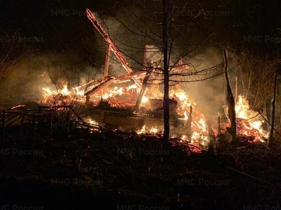 Жители Лягушкина вызвали пожарных, заметив горящий дачный домик
