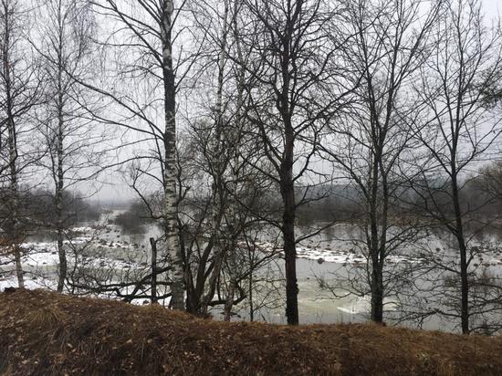 На калужских реках начался резкий спад воды после половодья