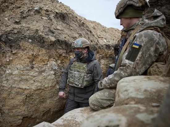 Зеленский успокаивающе поел на Донбассе борща