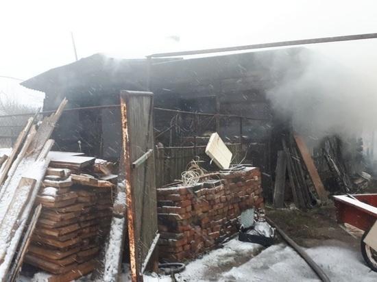 В Ивановской области сгорел большой частный дом