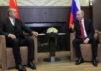 Путин рассказал Эрдогану о провокациях Киева в Донбассе