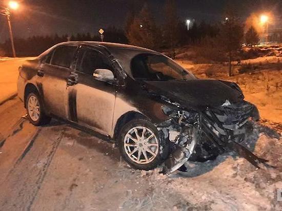 Пьяная женщина угнала такси и удирала от полиции по ночному Ноябрьску
