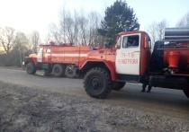 10 апреля ночью около часа пожарные тушили горевший под Белевом одноквартирный дом