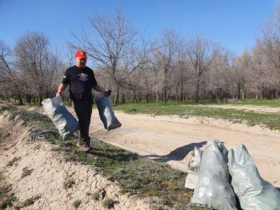 Cтрайкболисты провели уборку на Ала-Арчинском водохранилище
