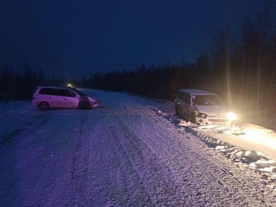 В Мегино-Кангаласском районе Якутии столкнулись две иномарки, один человек пострадал