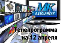 Публикуем программу передач самых популярных каналов на 12 апреля 2021 года
