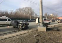 Сегодня рано утром произошла авария на улице Труда