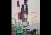 Момент обрушения части трубы на барнаульской ТЭЦ-2 попал на запись камер видеонаблюдения.