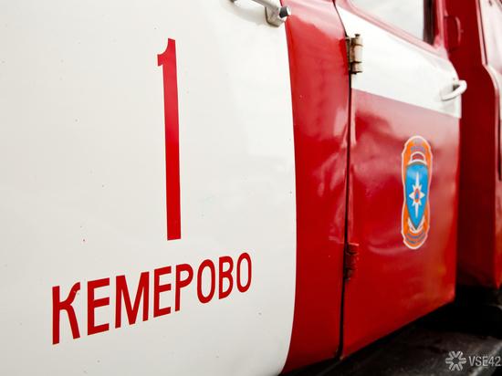 Пожар в кемеровском посёлке охватил 200 квадратных метров