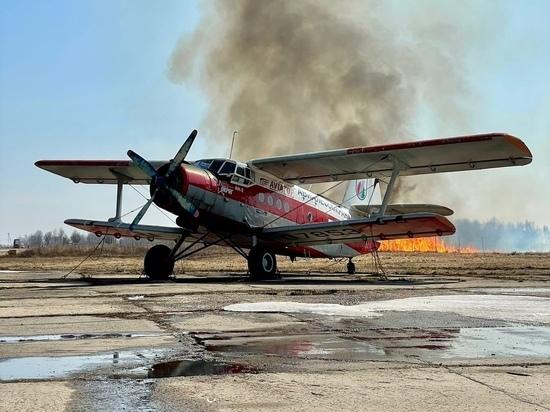 Вокруг аэродрома Орешково под Калугой горят поля