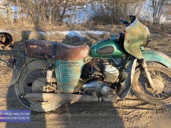 В Ивановской области пьяный мотоциклист перевернулся и стукнулся головой