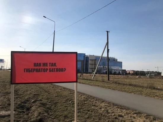 Плакаты на Пулковском шоссе напомнили губернатору о застарелой проблеме