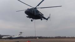 Армия выделила два вертолета для тушения пожара на «Невской мануфактуре»