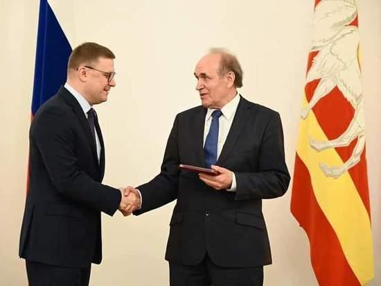 Вячеславу Скворцову вручили нагрудный знак «Почетный гражданин Челябинской области»