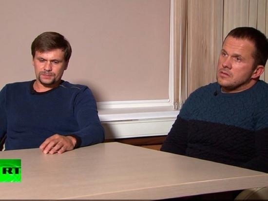 Лондон обратился к Петрову и Боширову по делу о смерти в Эймсбери