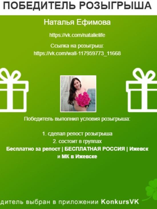 Следи за нашими новостями и выигрывай призы от редакции МК Ижевск