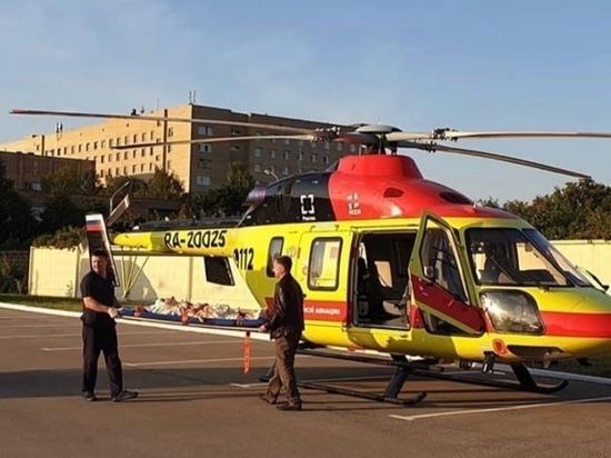 Рязанку с тяжелой травмой позвоночника на вертолете доставили в Москву
