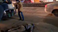 В Улан-Удэ маршрутка сбила пьяного пешехода на улице Терешковой