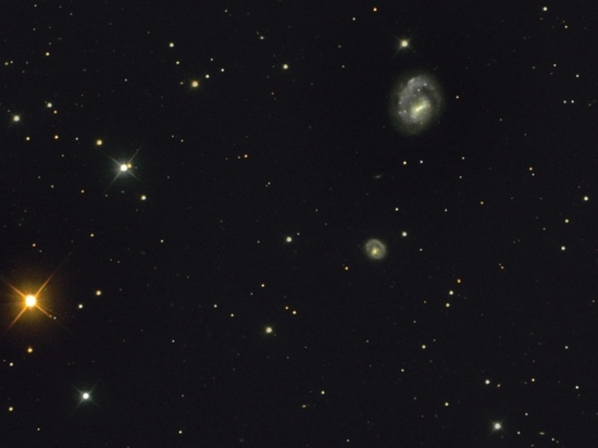 Две галактики в созвездии Гончих Псов сфотографировал псковский астроном