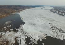 В четверг ночью голова ледохода на Томи пересекла границу Томской области