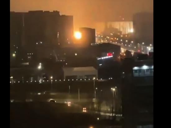 Красноярцев испугали странные вспышки в районе проспекта Металлургов