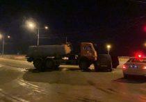 В Якутске при столкновении КамАЗа и иномарки пострадал человек