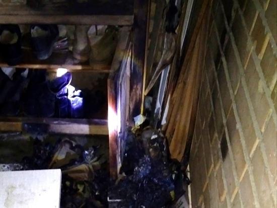 В Смоленске разгорелся пожар на балконе