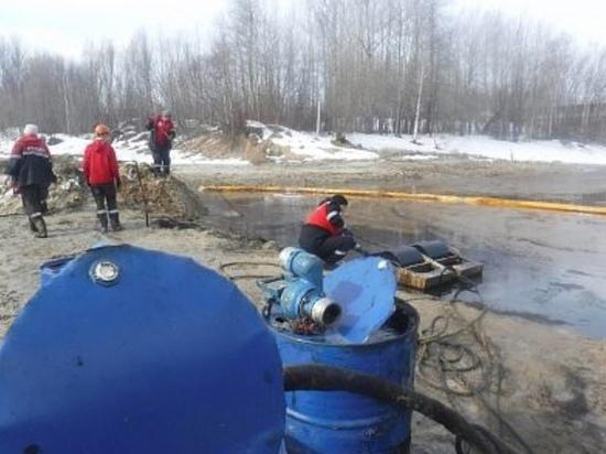 Под Нижневартовском произошла утечка нефтепродуктов