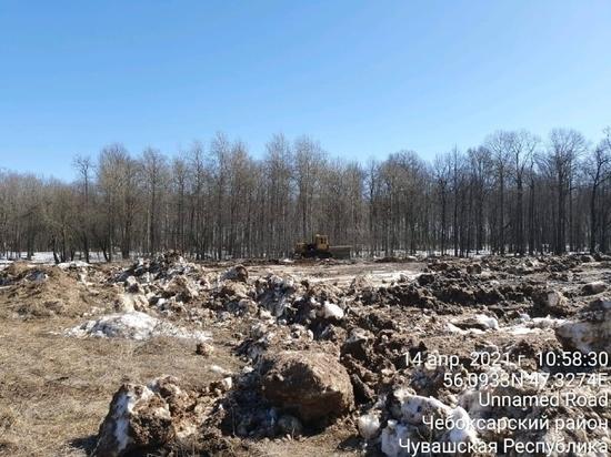 Застройщики очистили от мусора территорию возле Бауманского леса в Чебоксарах