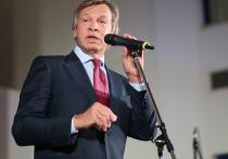 Российский сенатор Алексей Пушков назвал введенные накануне американские санкции против Москвы очередной попыткой США «поставить Россию на колени»