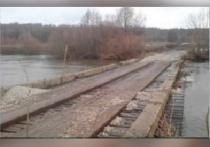 В Сапожковском районе от воды освободился мост у Скит Свято-Данилова монастыря