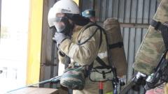 Пять минут потребовалось пожарным, чтобы ликвидировать пожар в центре Вологды