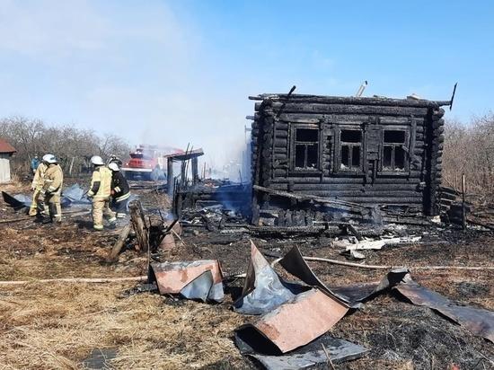 В Лукояновском районе из-за пала сухой травы сгорел дом