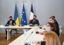 Встреча президента Украины Владимира Зеленского с главой Франции Эммануэлем Макроном прошла в показательно теплой атмосфере