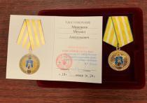 Глава Невинномысска Миненков получил медаль МВД