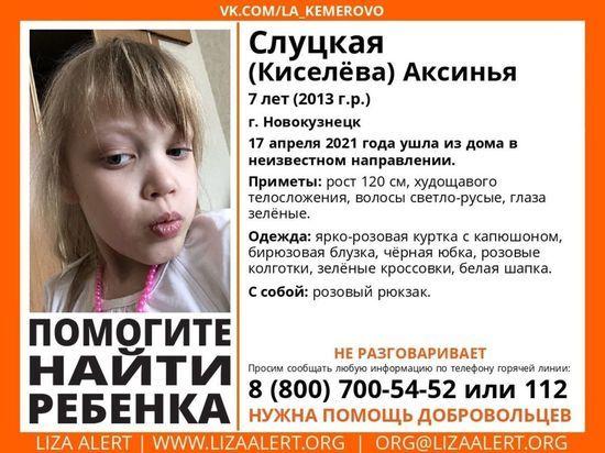 Семилетняя девочка из Новокузнецка пропала без вести. Ребенок был одет в розовое