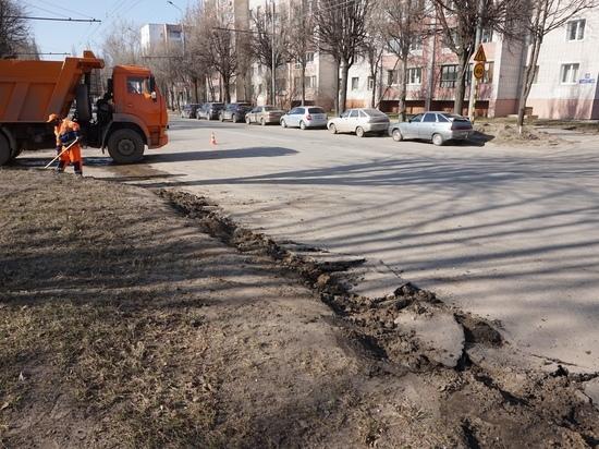 На улице  Суворова в Йошкар-Оле начат ремонт проезжей части