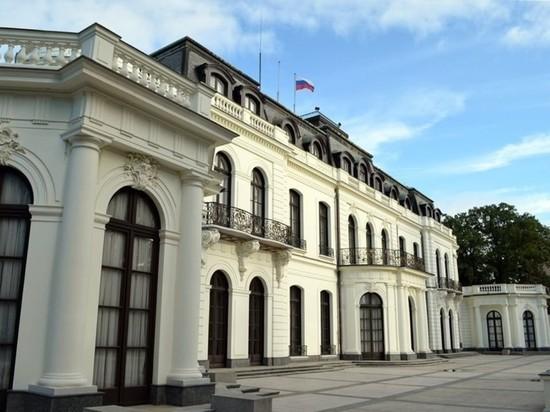Российское посольство в Праге облили кетчупом