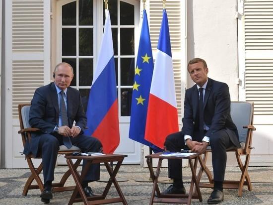 Макрон призвал Россию к деэскалации на границе с Украиной