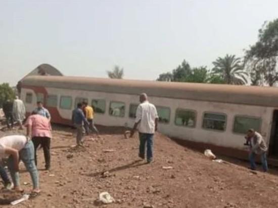 Названа причина крушения поезда в Египте