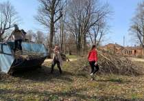 Территорию старинной порховской усадьбы Волышево убрали добровольцы