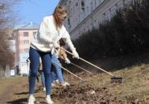 В Иванове студентки – участницы конкурса красоты, взялись за грабли
